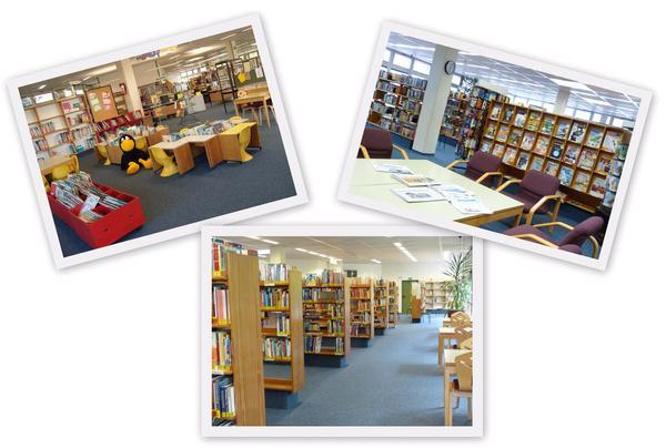 Collage Startseite Bücherei