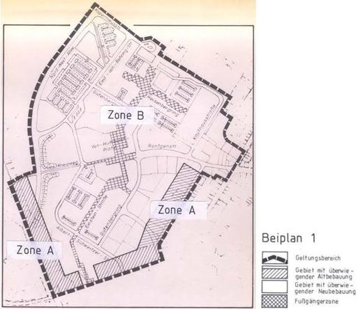 Beiplan 1 der Ortsgestaltungssatzung