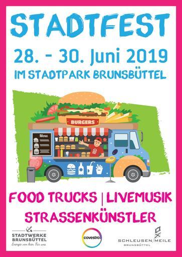 Plakat Stadtparkfest 2019