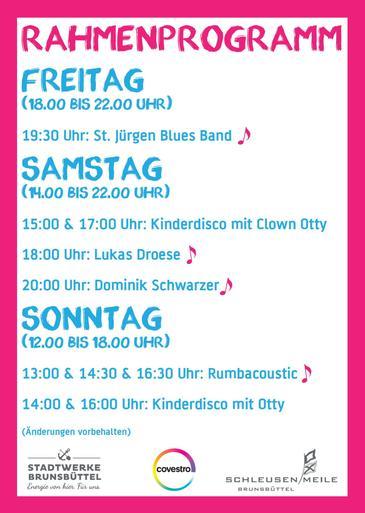 Flyer Stadtparkfest Rückseite